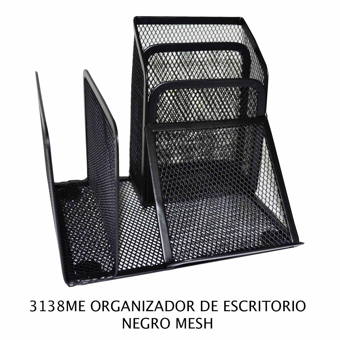 Organizador de escritorio Negro Mesh modelo 3138ME de Sablón