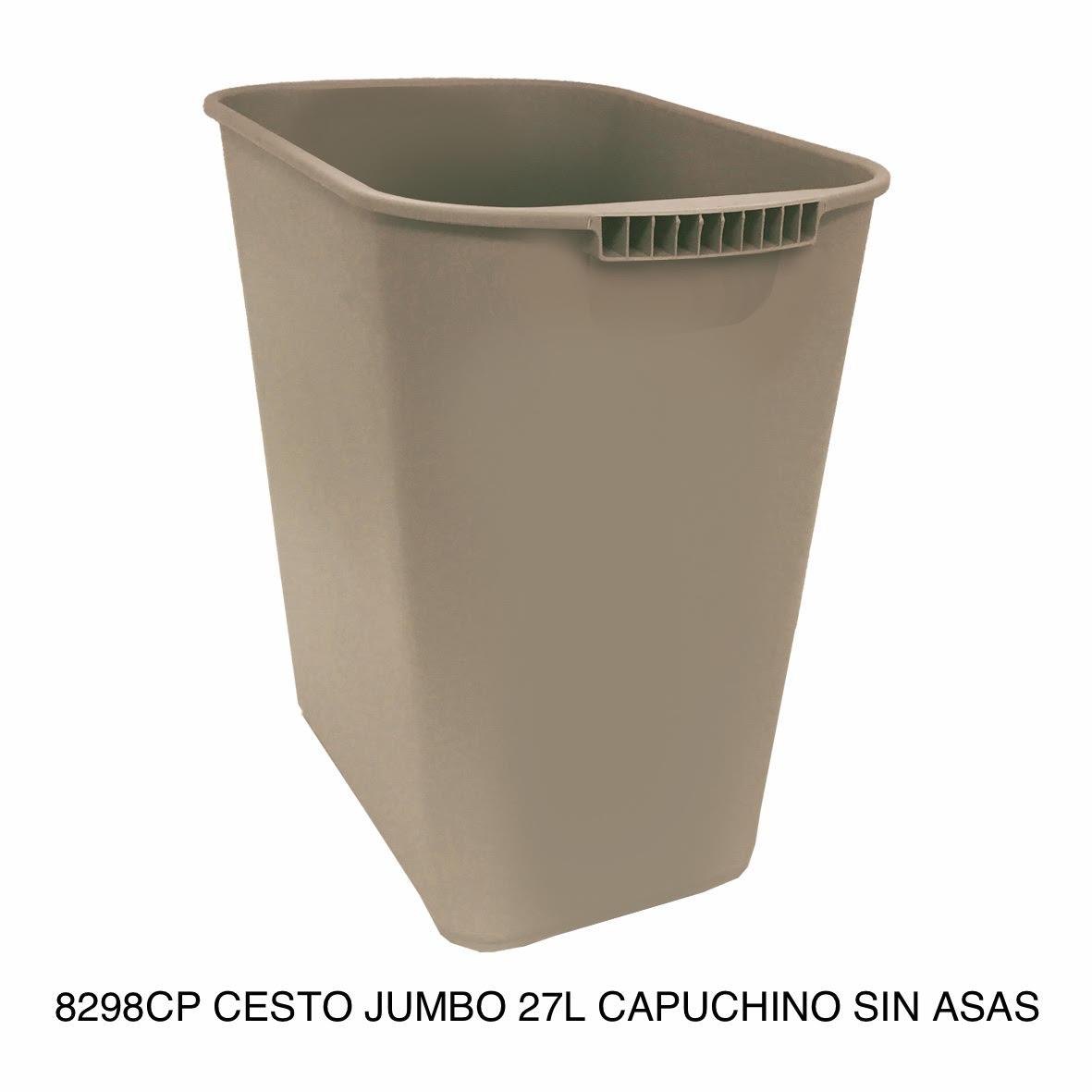 Bote de basura jumbo modelo 8298CP color capuchino sin asas de Sablón
