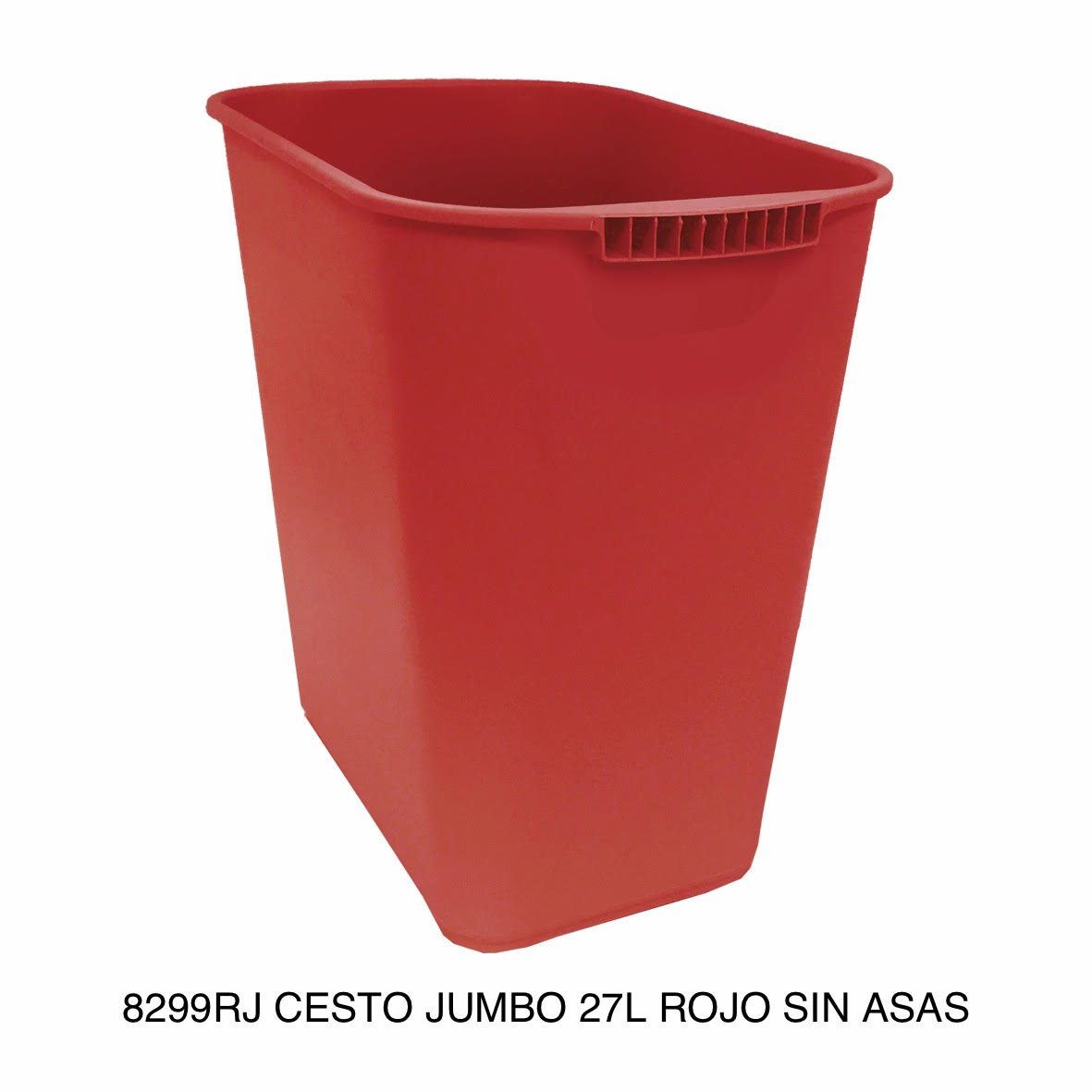 Bote de basura jumbo modelo 8299RJ color rojo sin asas de Sablón
