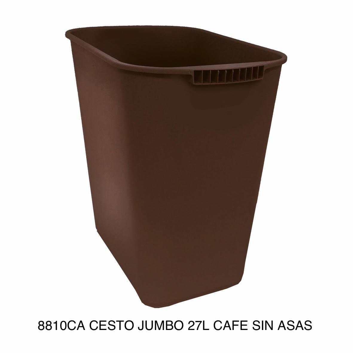 Bote de basura jumbo modelo 8810CA color café sin asas de Sablón