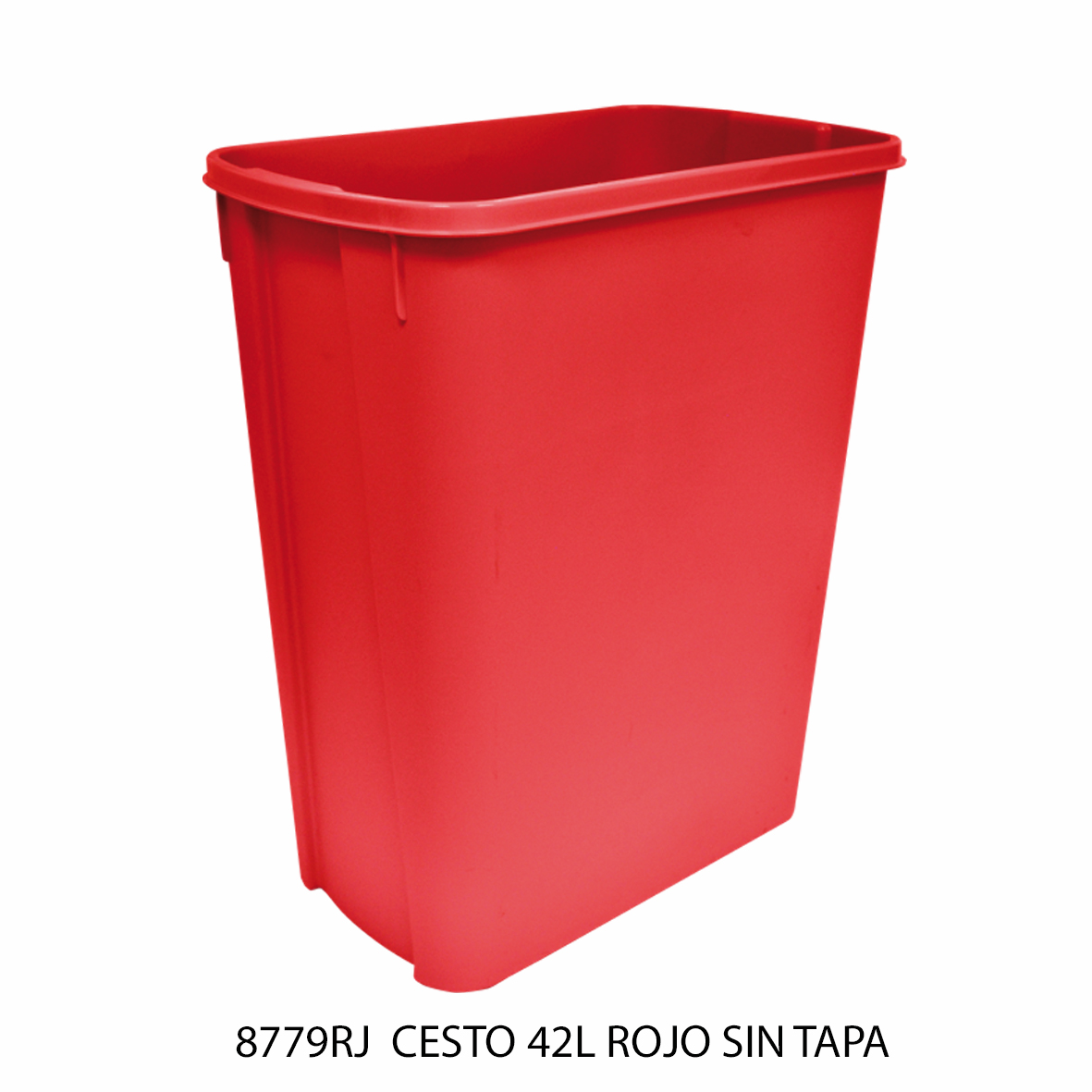 Bote de basura mediano de 42 litros sin tapa color rojo modelo 8779RJ de Sablón