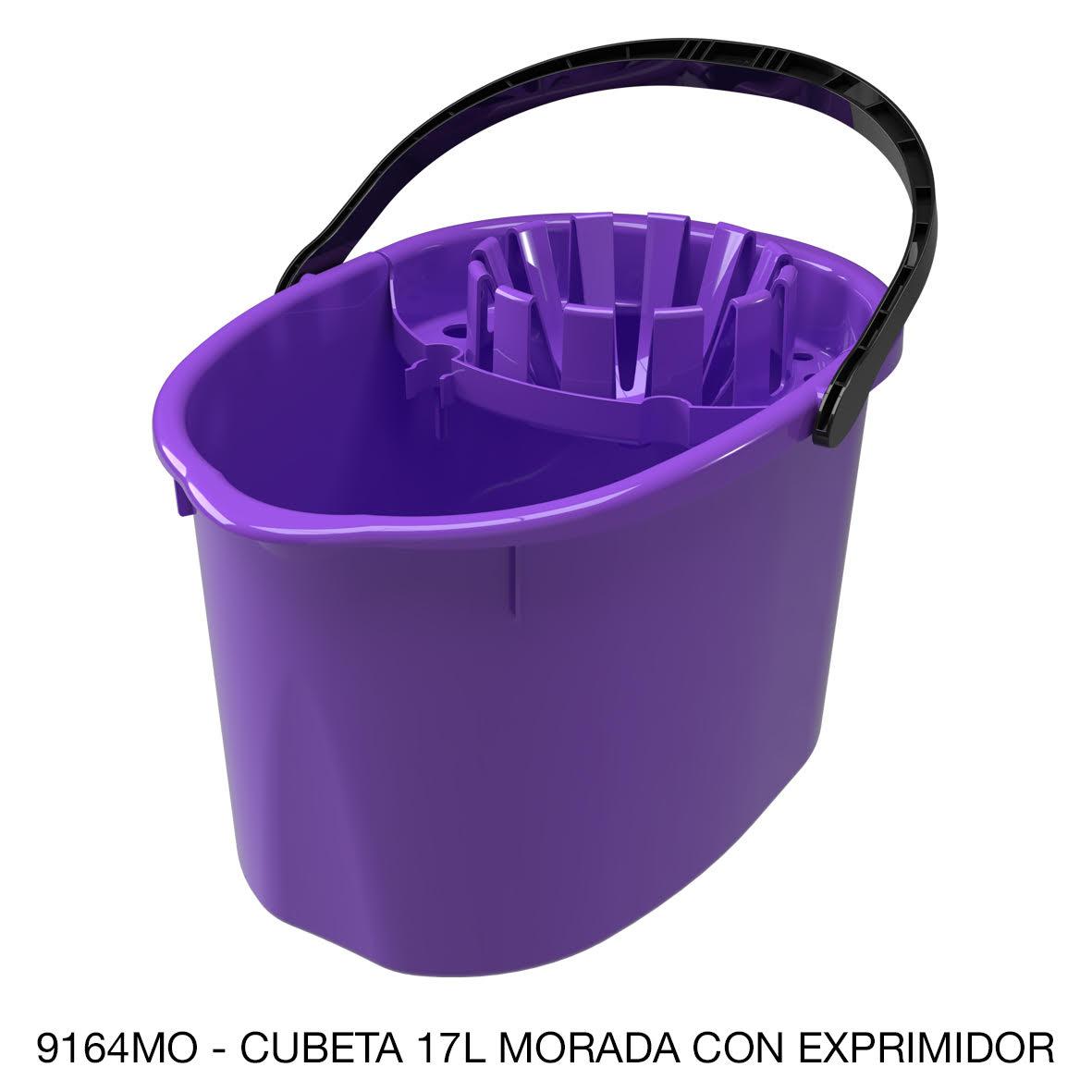 Cubeta de 17 litros con exprimidor color morado modelo 9164MO de Sablón