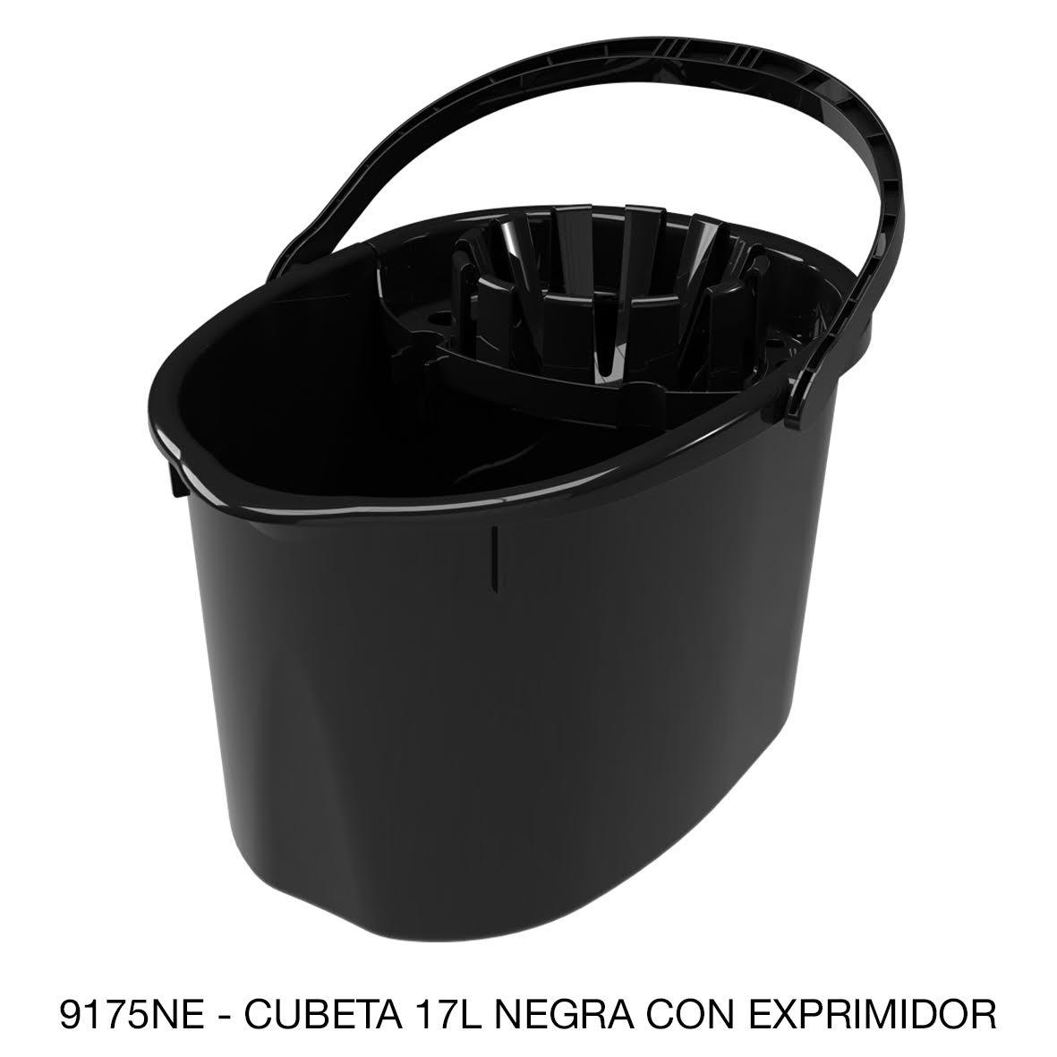 Cubeta de 17 litros con exprimidor color negro modelo 9175NE de Sablón