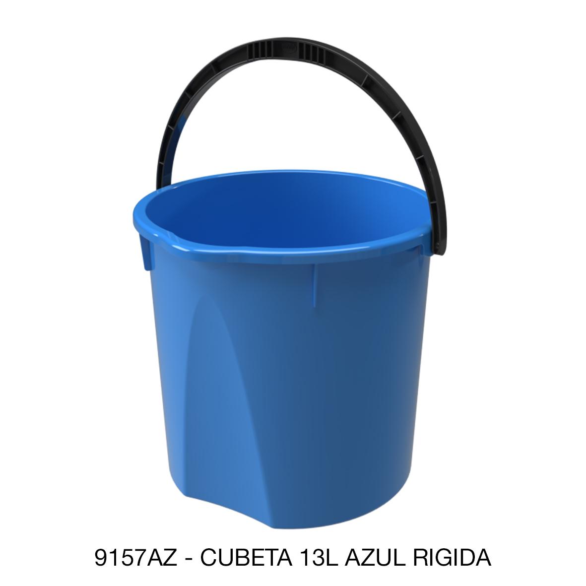 Cubeta rígida de 13 litros color azul modelo 9157AZ de Sablón