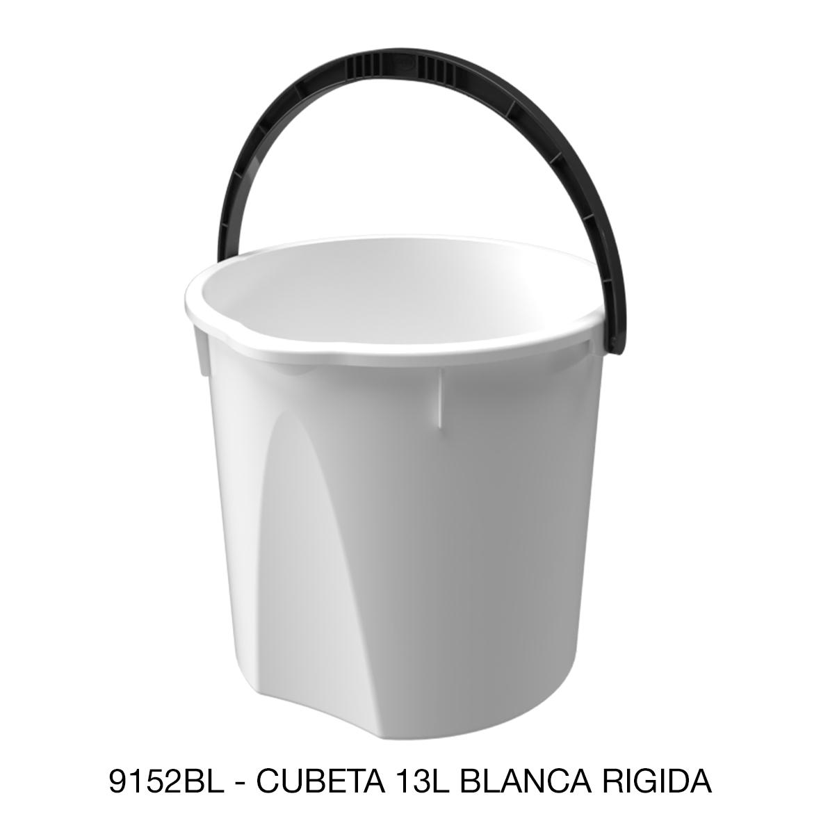 Cubeta rígida de 13 litros color blanco modelo 9152BL de Sablón