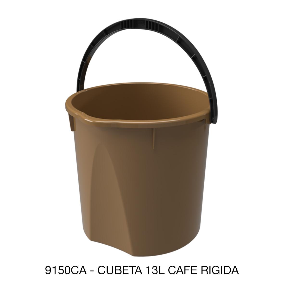 Cubeta rígida de 13 litros color café modelo 9150CA de Sablón