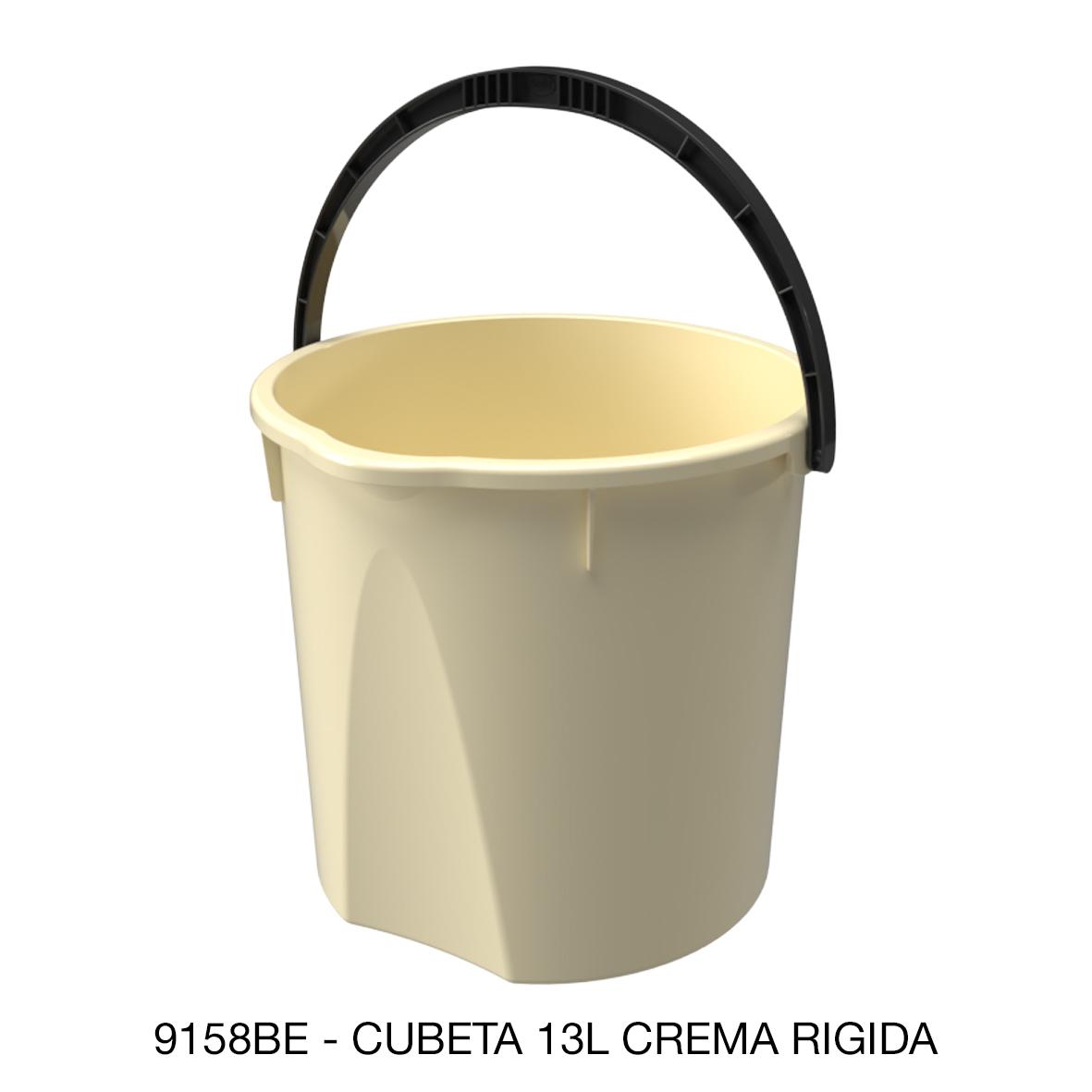Cubeta rígida de 13 litros color crema modelo 9158BE de Sablón