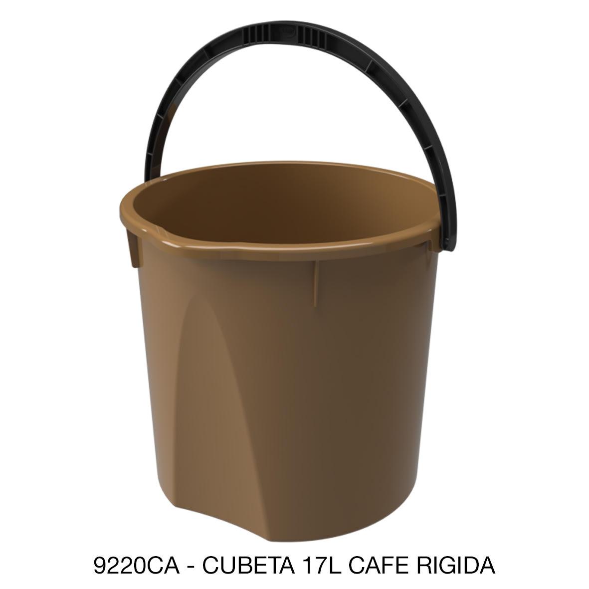 Cubeta resistente de 17 litros rígida color café modelo 9220CA de Sablón