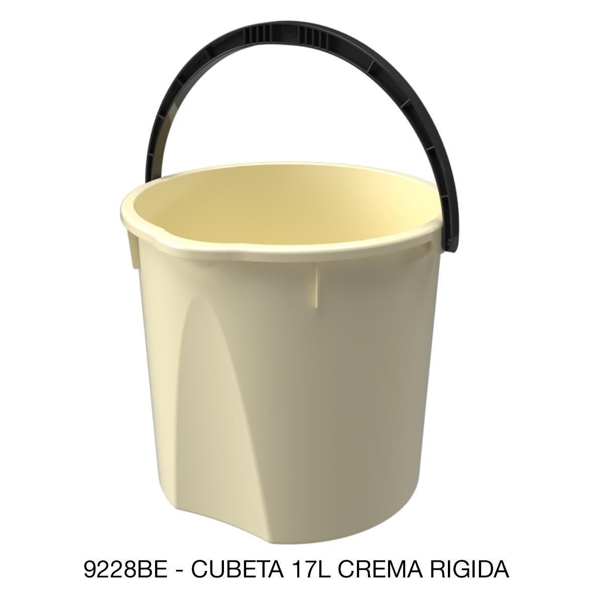 Cubeta resistente de 17 rígida litros color crema modelo 9228BE de Sablón