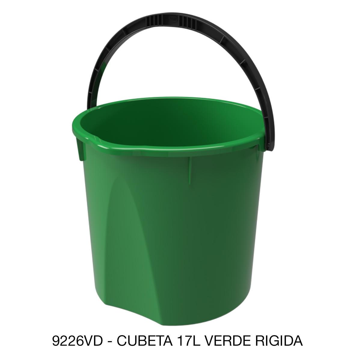 Cubeta resistente de 17 litros rígida color verde modelo 9226VD de Sablón
