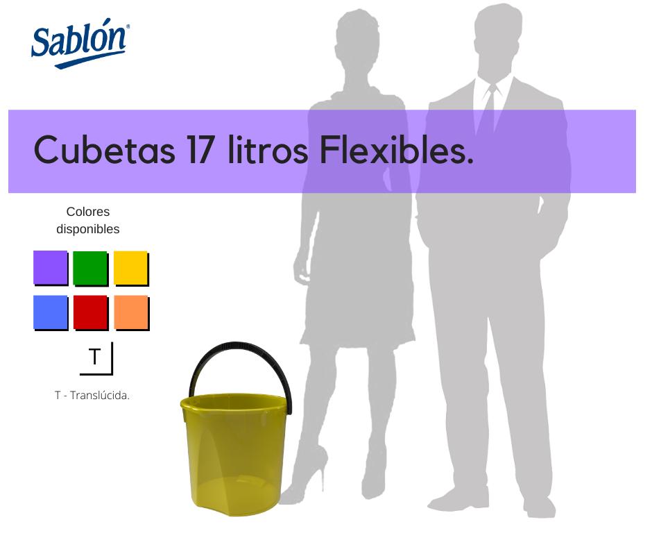 Cubetas flexibles de 17 litros Sablón