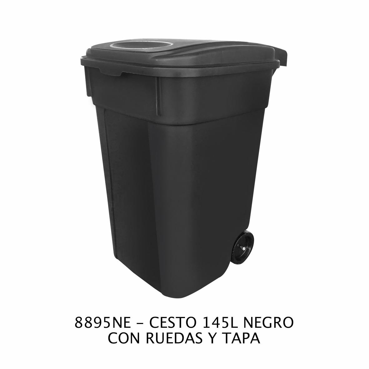Contenedor de basura de 145 litros Modelo 8895NE Sablón
