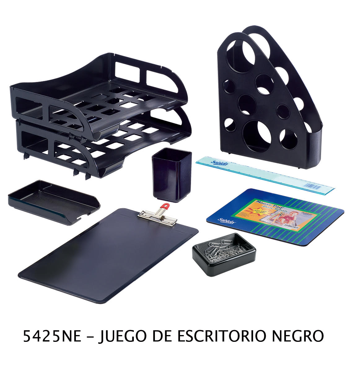 Juego de escritorio negro modelo 5425NE Sablón