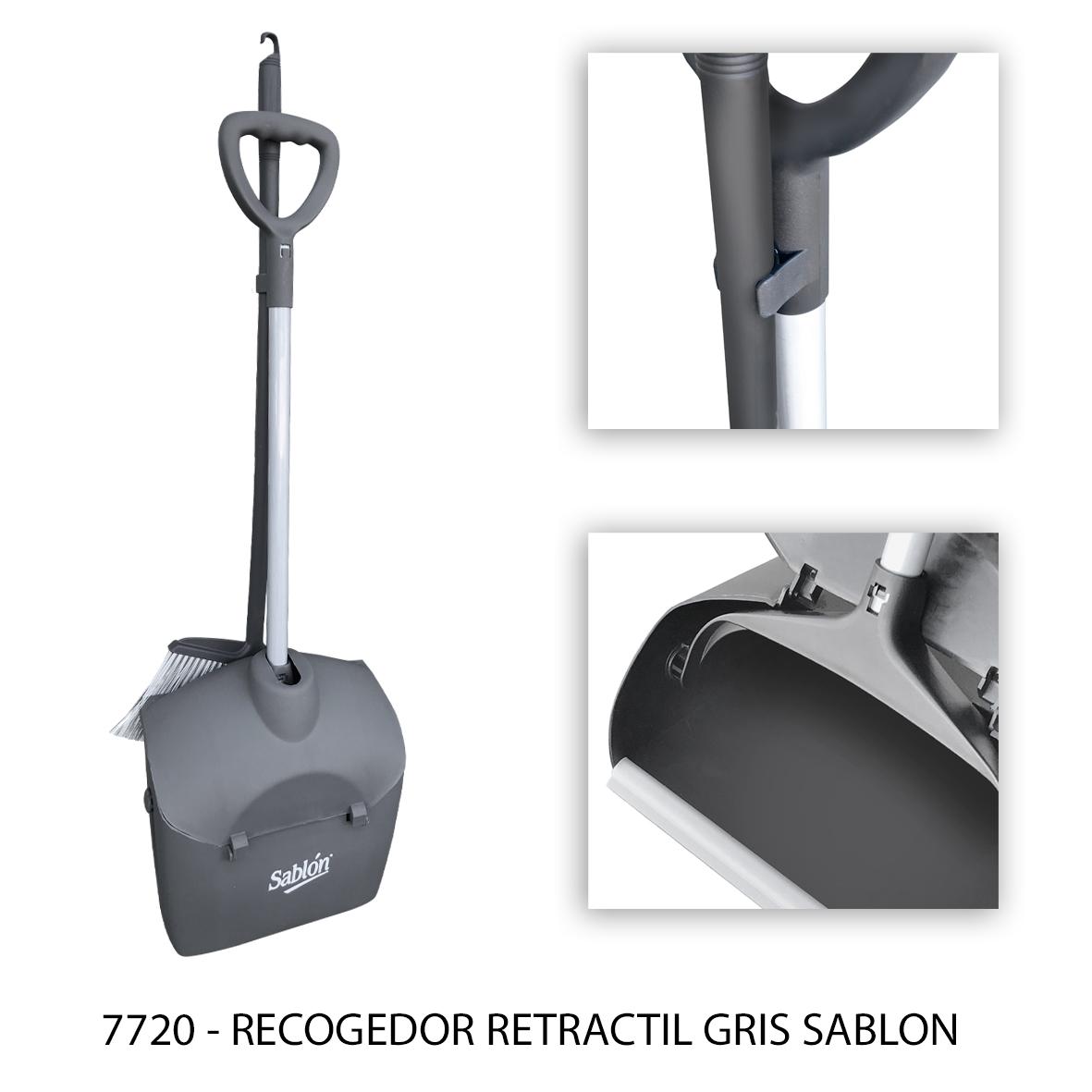 Recogedor de basura retractil gris modelo 7720 - Sablón