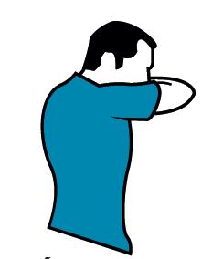 Cúbrete al estornudar