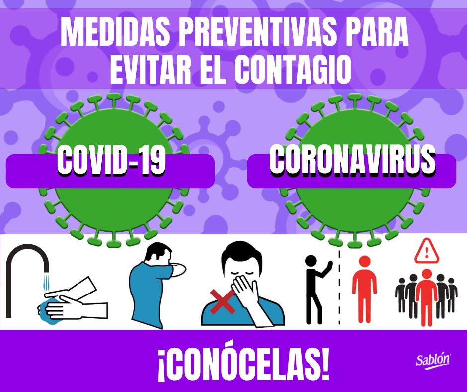 Medidas preventivas para el coronavirus