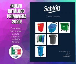 Descarga el catálogo de botes de basura de Sablón abril 2020