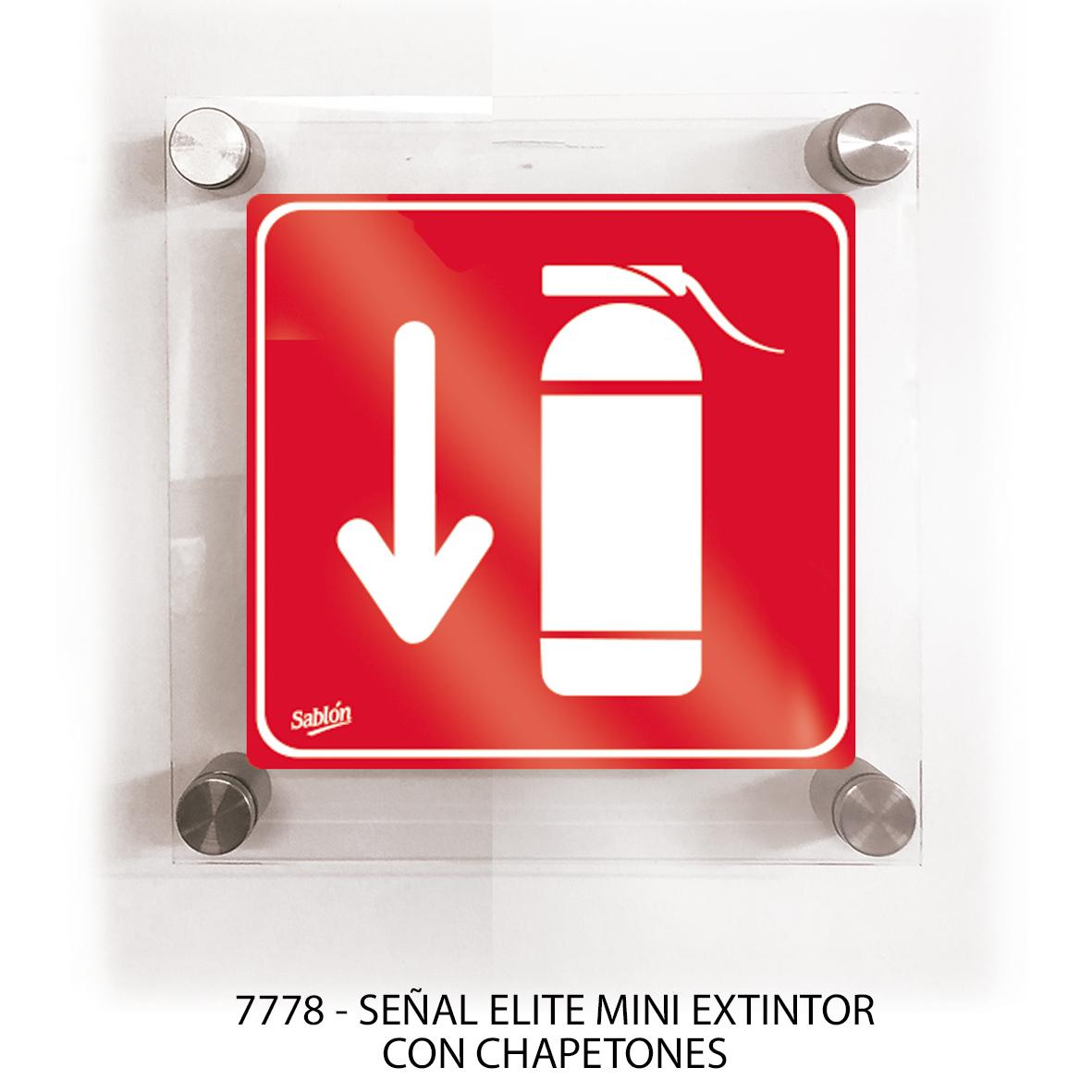 Señal extintor con chapetones línea elite mini modelo 7778 Sablón