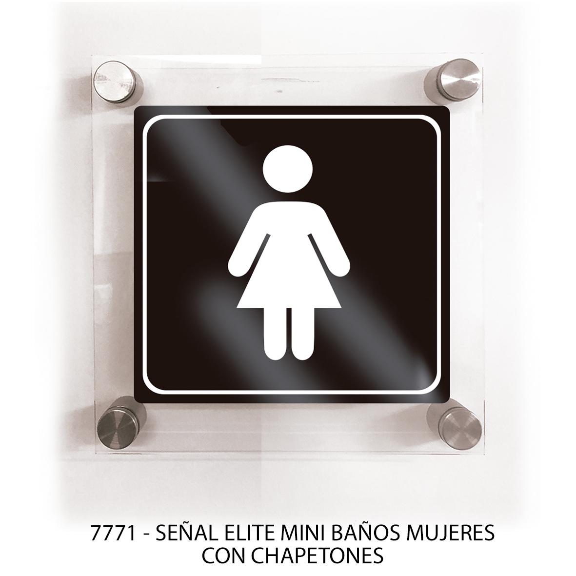 Señal para baños mujeres con chapetones línea elite mini modelo 7771 Sablón