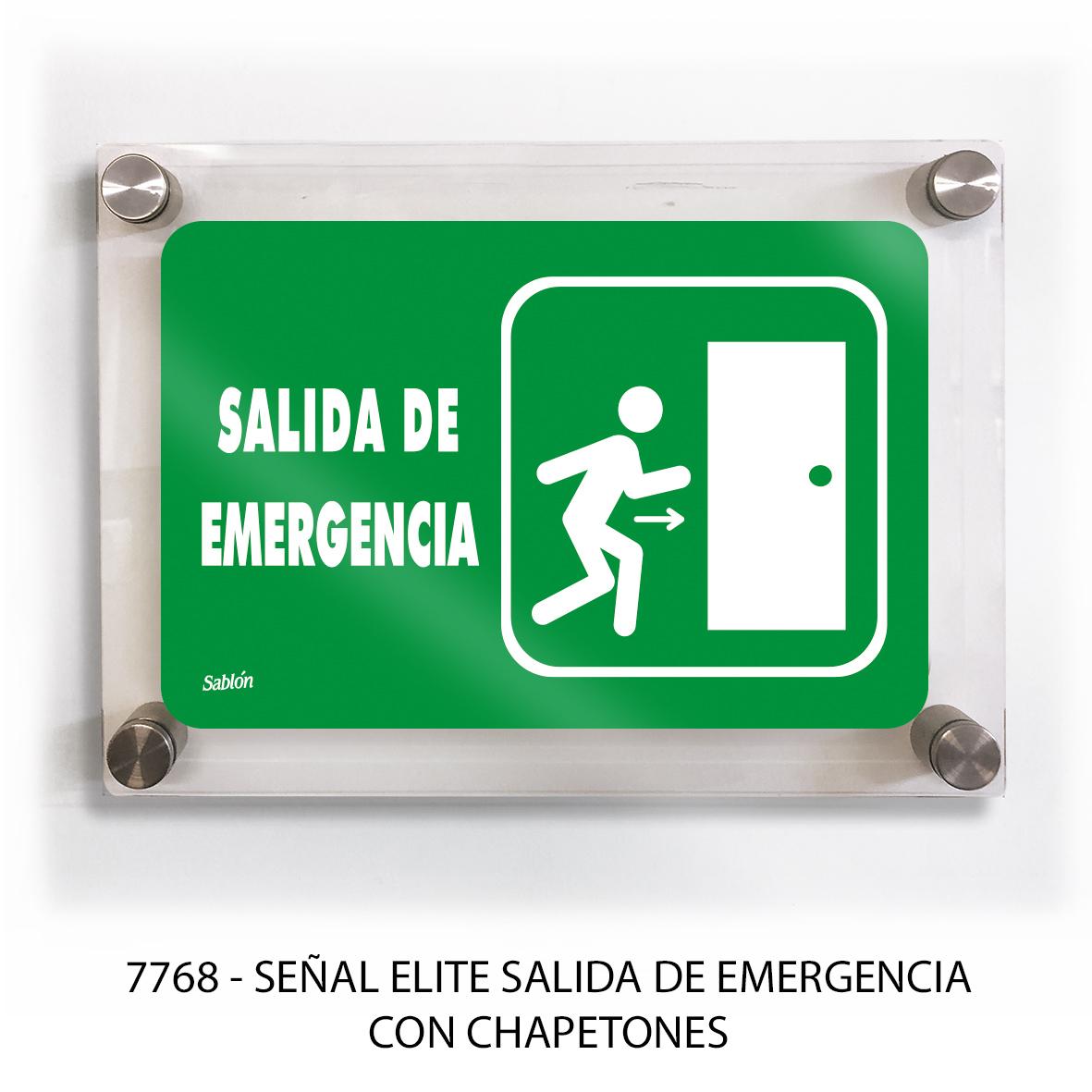 Señal salida de emergencia con chapetones línea elite modelo 7768 Sablón