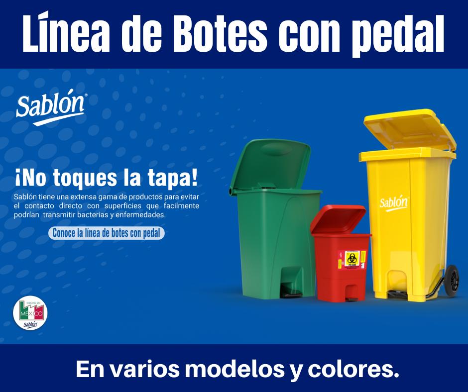 Botes de basura con tapa y pedal de Sablón
