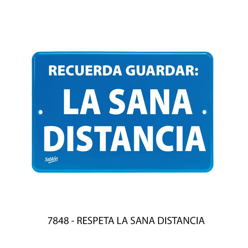 Señal Respeta la Sana Distancia modelo 7848 de Sablón