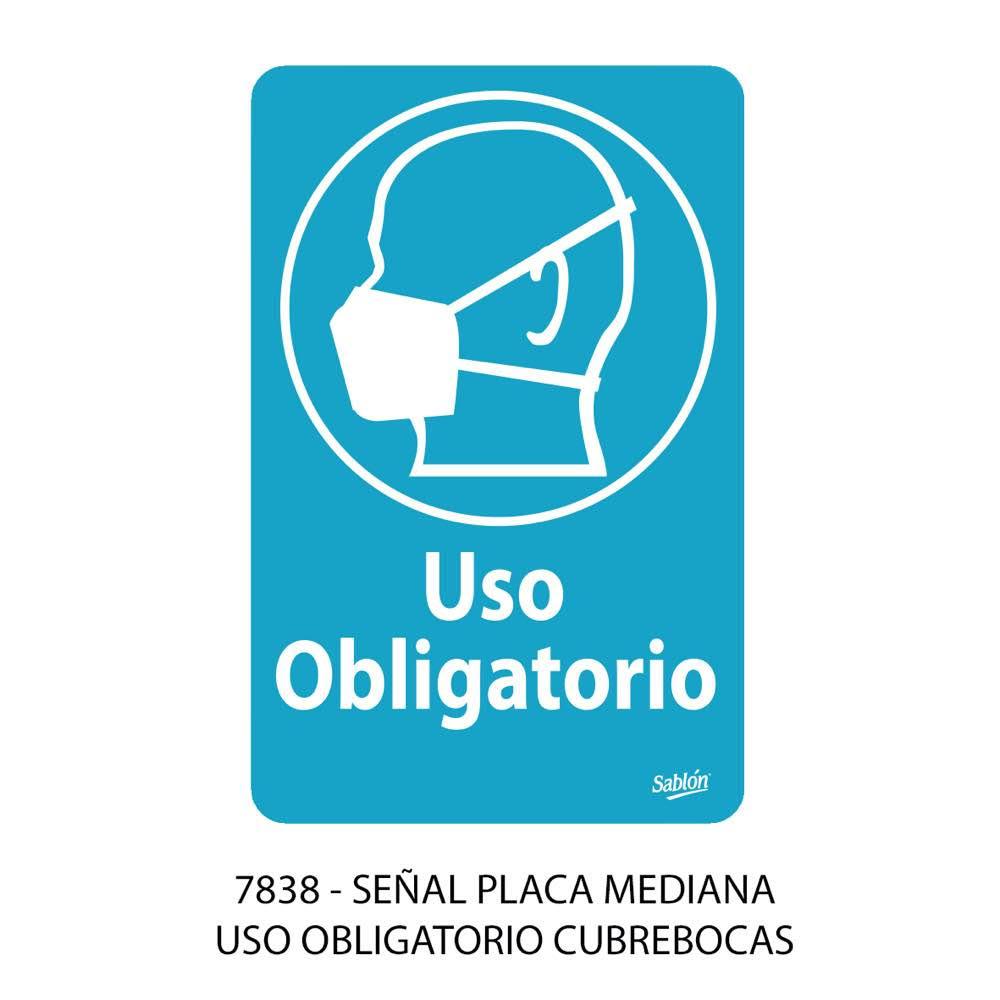 Señal de uso obligatorio de cubrebocas modelo 7838 Sablón