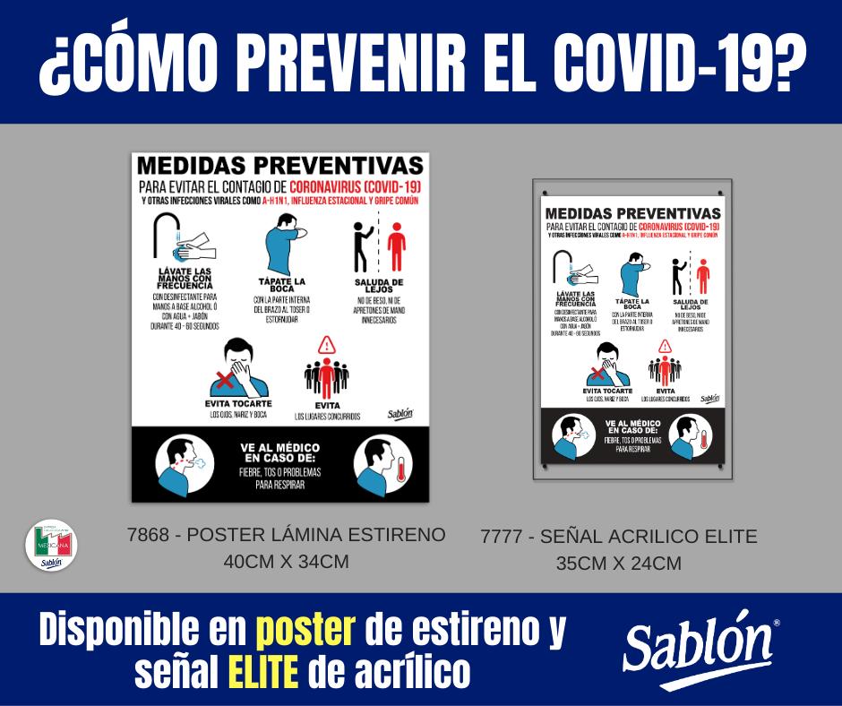 Señales medidas preventivas covid-19 Sablón