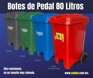 Conoce los botes de pedal de 80 litros Sablón