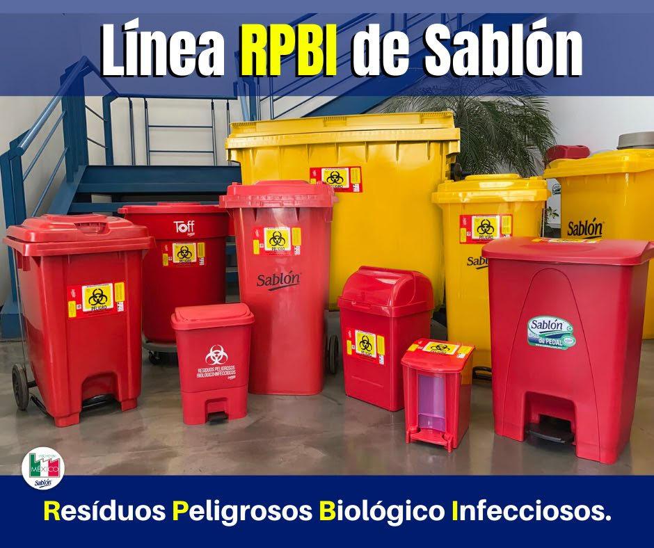 Línea de botes de basura RPBI Sablón