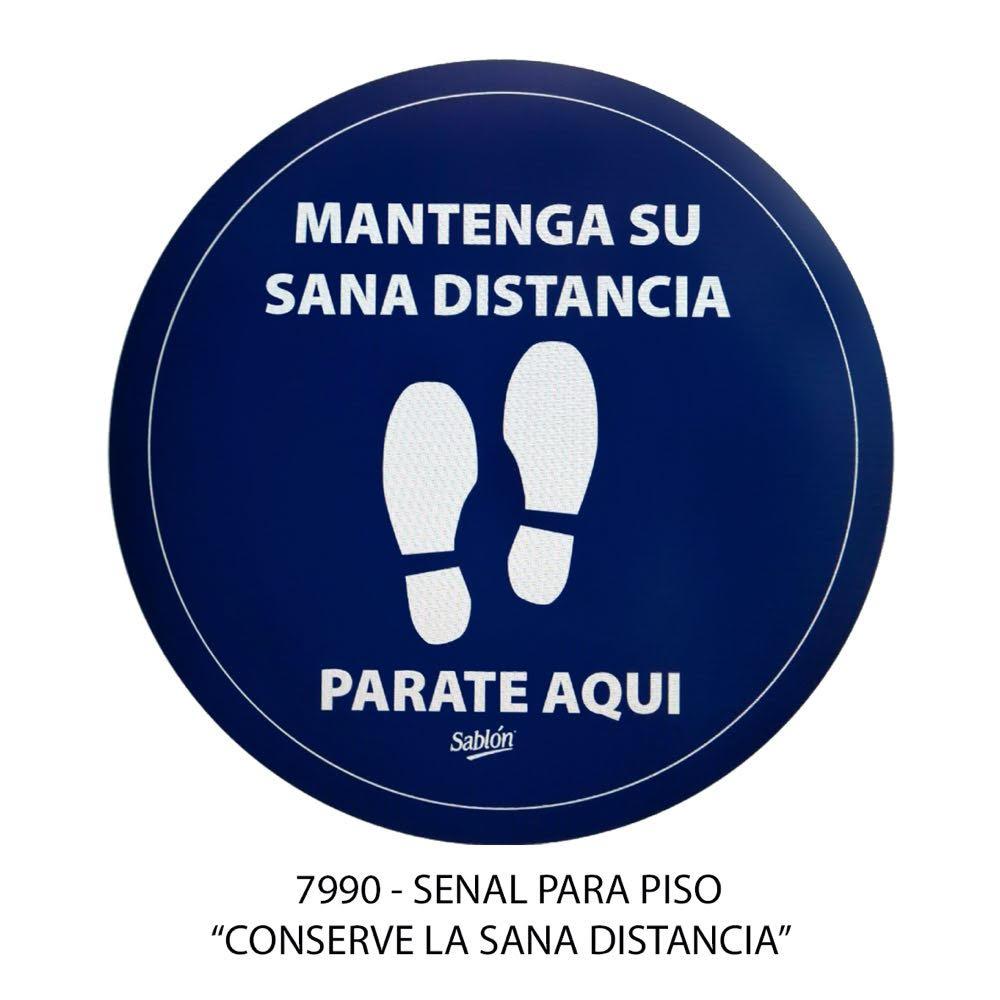 Señal para piso Conserve la Sana Distancia modelo 7990 Sablón