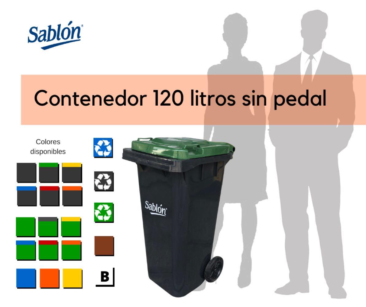 Contenedores de 120 litros sin pedal Marca Sablón