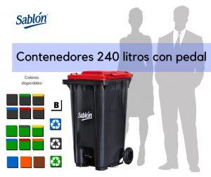 Contenedores de 240 litros con pedal Marca Sablón