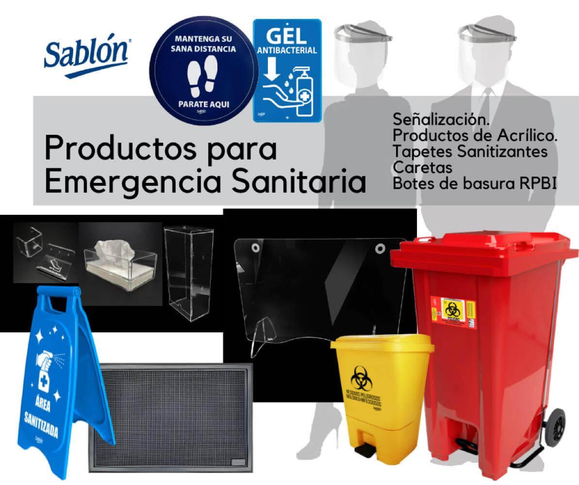 Productos para Emergencia Sanitaria Sablón