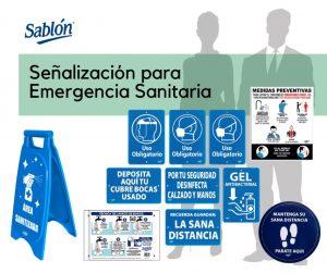 Senalización para emergencia Sanitaria Sablón