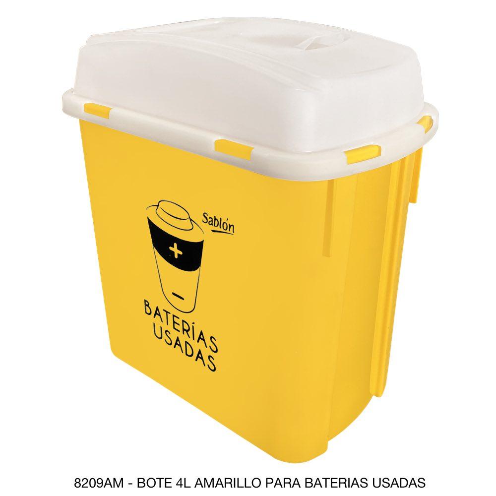 Bote de basura para pilas usadas Sablón