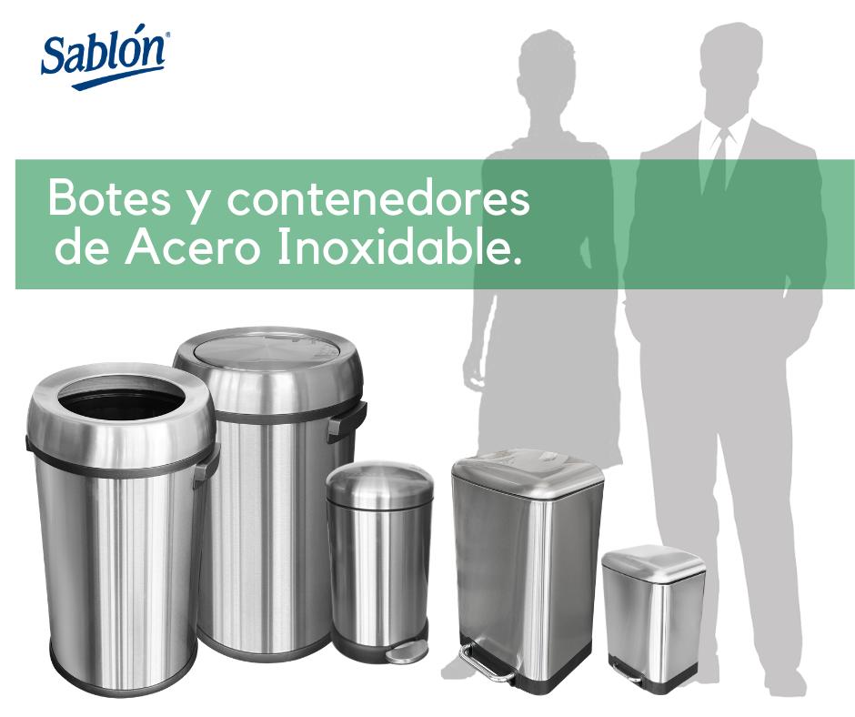 Botes y contenedores de basura de acero inoxidable Sablón