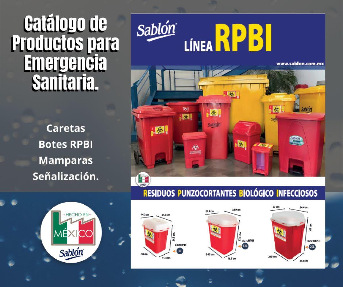 """Contenedores para residuos punzocortantes biológico infecciosos """" RPBI """""""