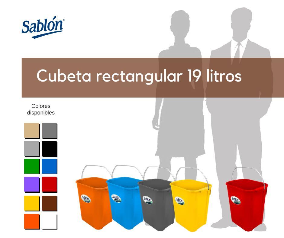Cubetas rectangulares de 19 litros de Sablón