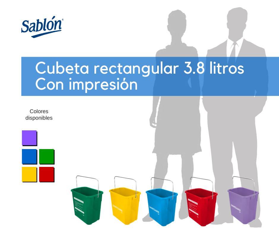 Cubetas rectangulares de 3,8 litros impresa de Sablón