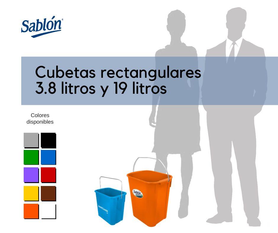 Cubetas rectangulares de 3,8 litros y de 19 litros Sablón