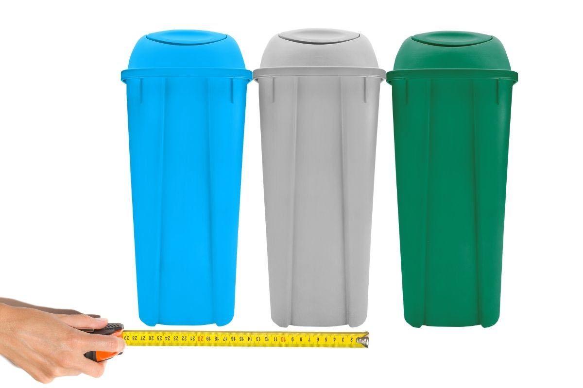 Cómo medir un centro de separación de basura.